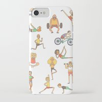 gym iPhone & iPod Cases featuring Gym Buddies by Sid's Shop
