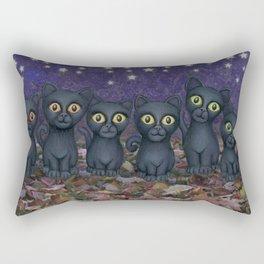 black cats, stars, & moon Rectangular Pillow