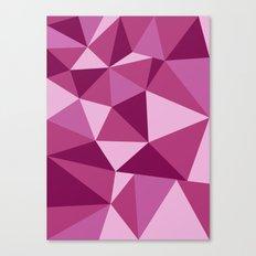 Pink Geometric Canvas Print