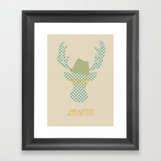 Deer Hipster Framed Art Print