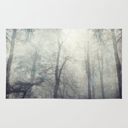 twistEd - foggy forest Rug