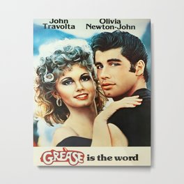 Grease Movie Poster Metal Print