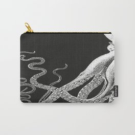 Half Octopus (Left Side) | Black and White Carry-All Pouch