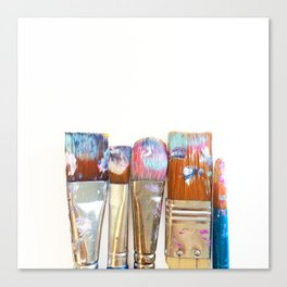Five Paintbrushes Minimalist Photography Canvas Print