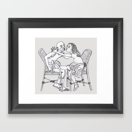 couple Framed Art Print
