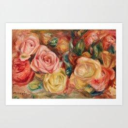 Pierre-Auguste Renoir - Roses Art Print