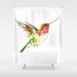 Hummingbird flying bird decor Shower Curtain