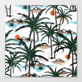 Tropical Summer Islands I Canvas Print