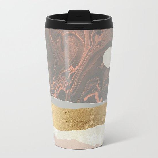 Coral Sky Metal Travel Mug