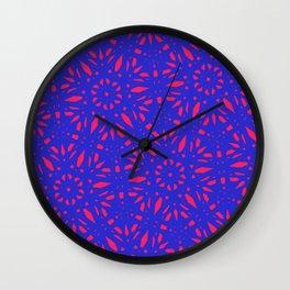 Fuschia Florals Wall Clock