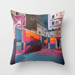 Play the game: Basketballcourt Throw Pillow