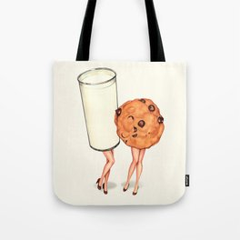 Milk & Cookie Pin-Ups Tote Bag