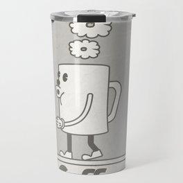 Vintage cartoon coffee drawing Travel Mug