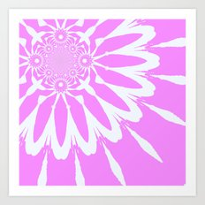 The Modern Flower Orchid Pink Art Print