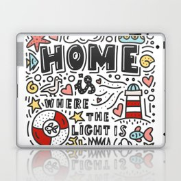 Home is where the light is. Doodles and lettering Laptop & iPad Skin