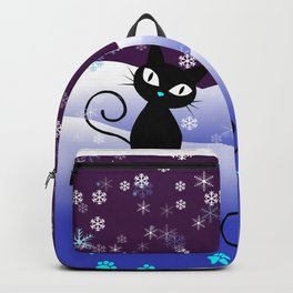 Glow in the Dark Xmas Cats Backpack