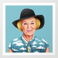 Hipstory - Queen Beatrix of the Netherlands Art Print