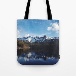 Snowy Peak and Lake Tote Bag