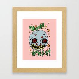 social anxiety Framed Art Print