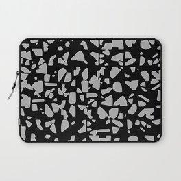 Grey colour chips pattern- geometric Laptop Sleeve