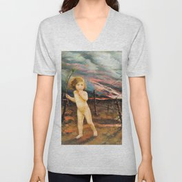 An allegory of war, Peace lost in no man's land - Digital Remastered Edition Unisex V-Neck