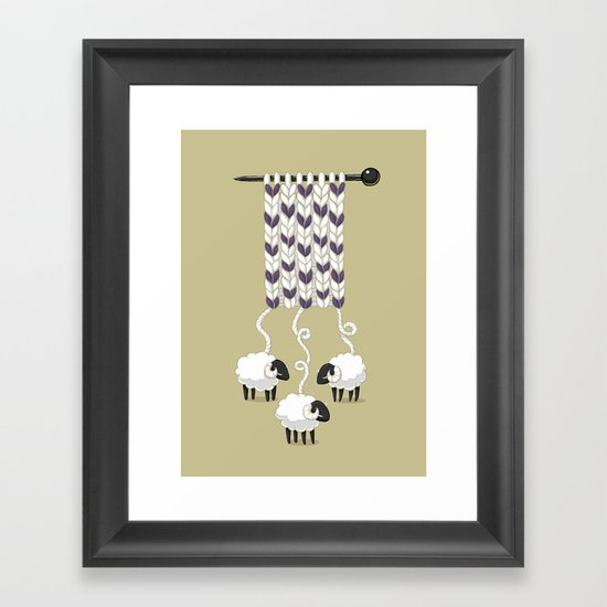 Wool Scarf Framed Art Print