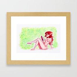 Red read Framed Art Print