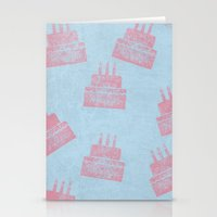 happy birthday Stationery Cards featuring Happy Birthday by sinonelineman