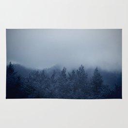 Blue mystical forest Rug