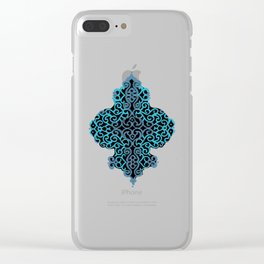 celtic blue Clear iPhone Case