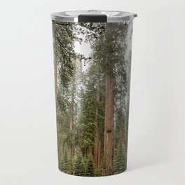 Sequoias in the Fog Travel Mug