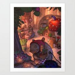 Mouse Cafe / illustration Art Print