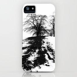 Black on white iPhone Case