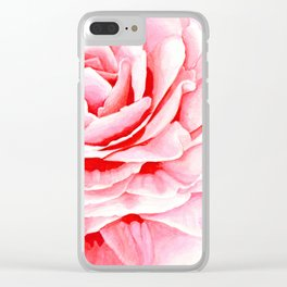 Watercolor Pink Camellia Clear iPhone Case