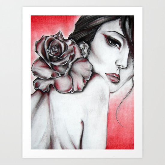 Asian Rose  Art Print