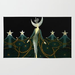 "Art Deco Design ""Queen of the Night"" by Erté Rug"