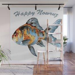 Happy Nowruz Shubunkin Goldfish Persian New Year Wall Mural