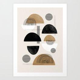 Paper Collage Art Art Print