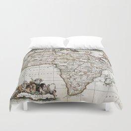 Vintage Africa map Duvet Cover