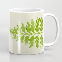 lime Mugs featuring Lime Fern by Cat Coquillette