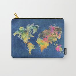 world map 93 #worldmap #map #world Carry-All Pouch