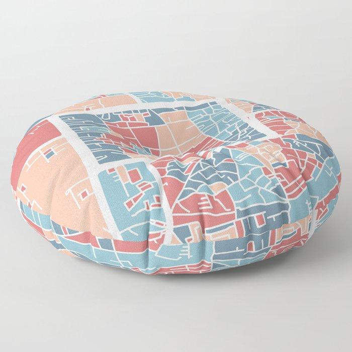 Chiang Mai map Floor Pillow
