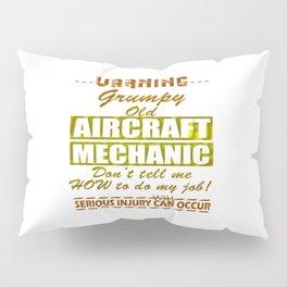 Aircraft Mechanics Pillow Sham