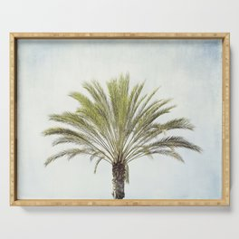 Palm Tree Photography, California Beach Coastal Art, Palm Trees Sky Serving Tray