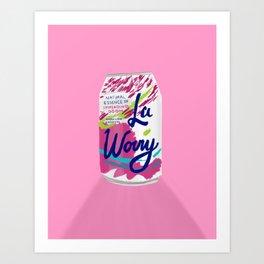 La Worry Art Print