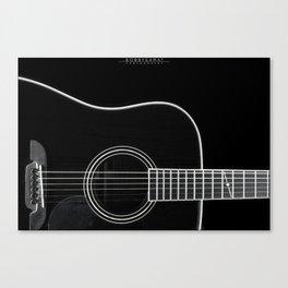Guitar BW Canvas Print