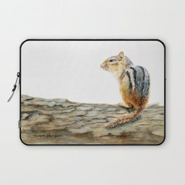 Little Chip - a painting of a Chipmunk by Teresa Thompson Laptop Sleeve