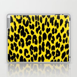 Bright Yellow & Black Leopard Print Laptop & iPad Skin