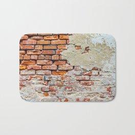 Old Brick Wall Bath Mat