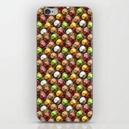 Metallic Beads Pattern iPhone Skin